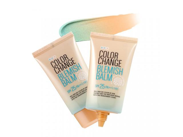 (������� ) Welcos Color Change Belmish Balm SPF25 PA++  �պ�෾ ��������㹵�� 2 in 1