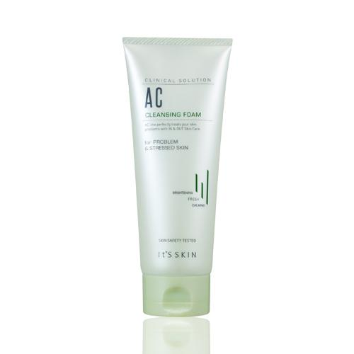 (�������) It's skin Clinical Solution AC Cleansing Foam ��չ������Ӥ������Ҵ���˹�� Ŵ�����ѹ Ŵ����Դ��� ��͹�¹����Ǻͺ�ҧ